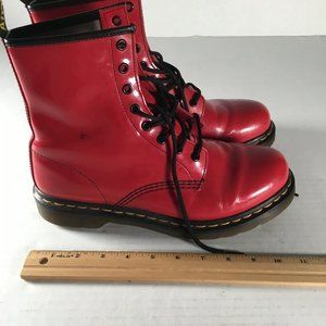 Red Doc Marten Boots